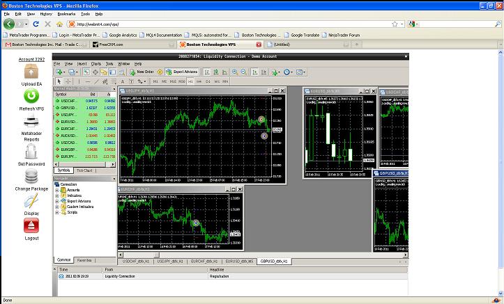 Information screen for Windows Remote Desktop