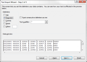 Excel Text Import Wizard Select CSV Delimiter