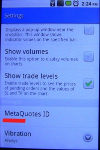 MetaTrader mobile MetaQuotes ID