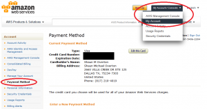 AWS Payment Method