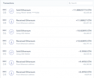 Coinbase deposits