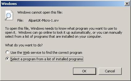 Select a program
