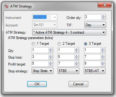 A NinjaTrader ATM Strategy