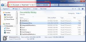 NinjaTrader Indicator Source Folder