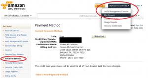 AWS Payment Method