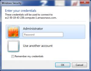 RDP Password prompt