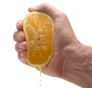 Orange juice squeeze