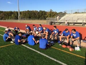 Flag football team.